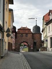 Das Stadttor von Thann (Thüringen)