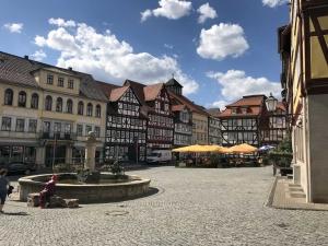 Der Marktplatz von Allendorf (Thüringen)