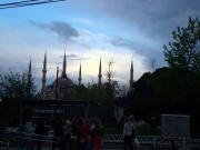 Die Blaue Moschee im Abendlicht