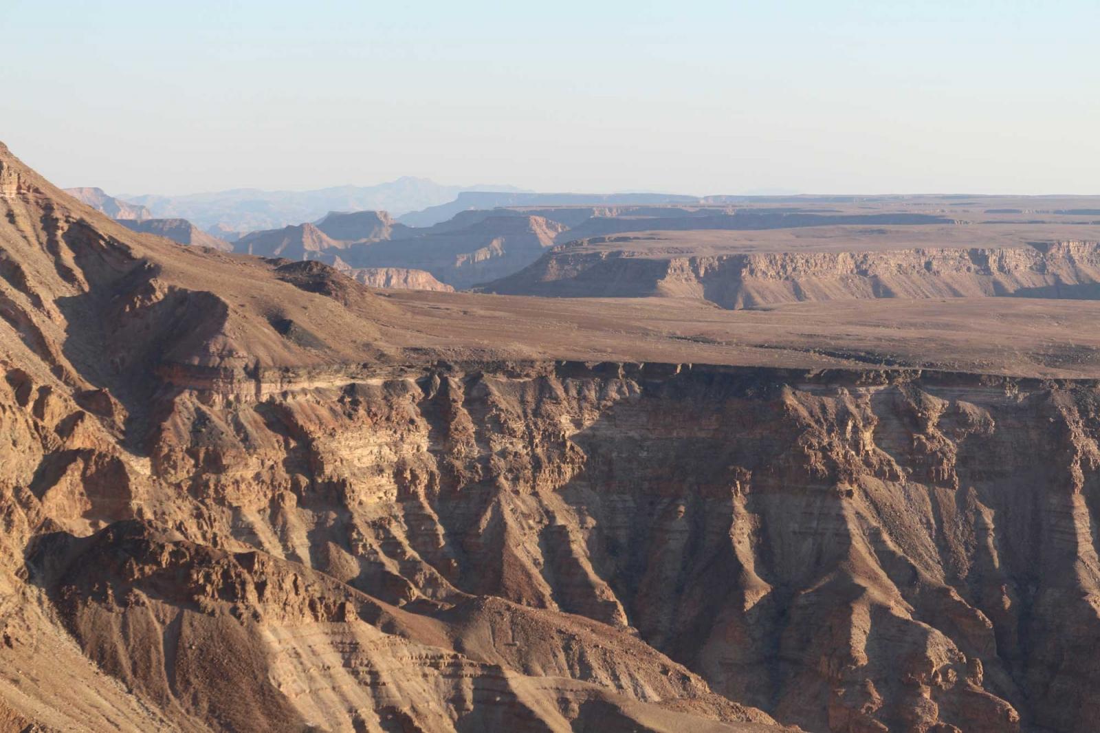Der Fish River Canyon, zweitgrößter seiner Art.